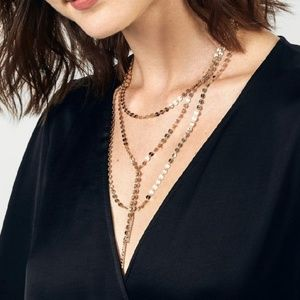 Baublebar gold multi layered Y necklace